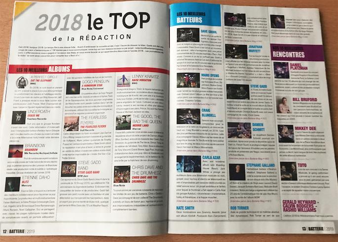 2018 | LE TOP DE LA REDACTION